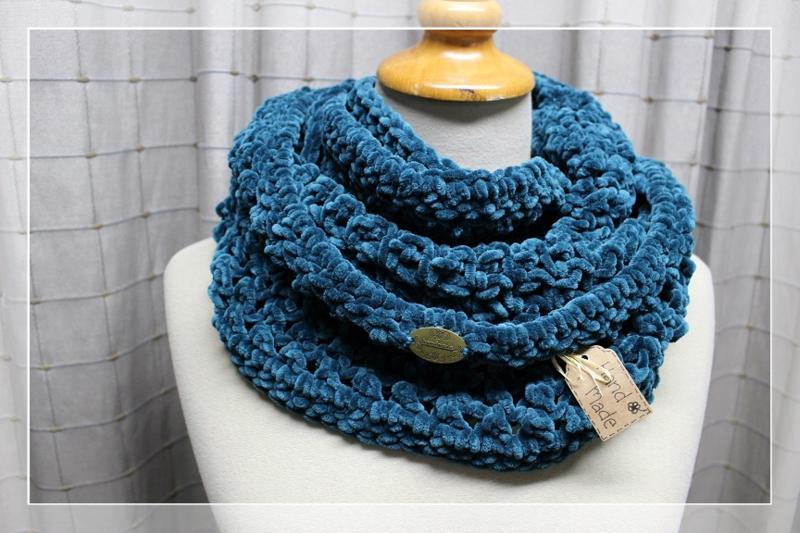 Col blauw-groen soft
