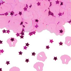 Confetti Sweet Baby Feet Pink mini met sterretjes