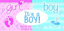 It's A Boy or Girl? kraskaartjes Boy