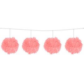 Roze Pom Pom slinger