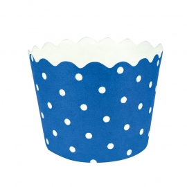 """Baby Blue Polkadot"" Baking Cups"