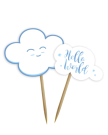 """Little Cloud Babyshower"" Blue prikkers"