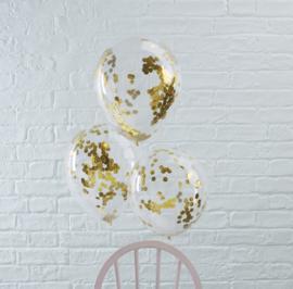 Gouden Confetti Gevulde Ballonnen