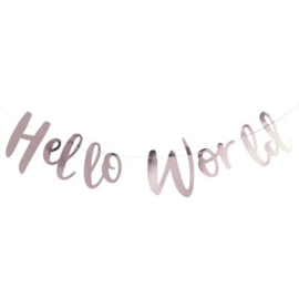 """Hello World Babyshower"" slinger"