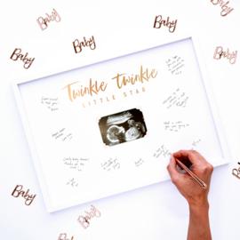 Twinkle Twinkle gastenboek op foto frame