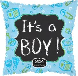 Beschrijfbare folie ballon It's a Boy (leeg!)