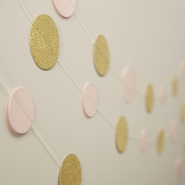 """Pastel Perfection"" confetti slinger pink/gold"