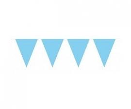 Blauwe XL vlaggetjes slinger