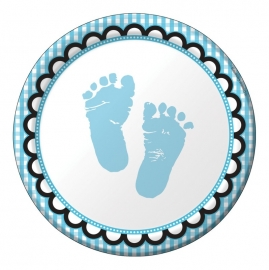 """Sweet Baby Feet Blue"" gebak bordjes"