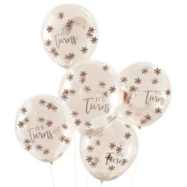 """""""It's Twins"""" confetti gevulde ballonnen"""