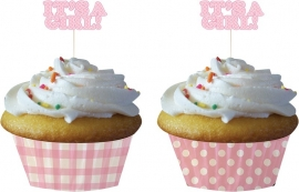 """It`s a Girl"" cupcake set"