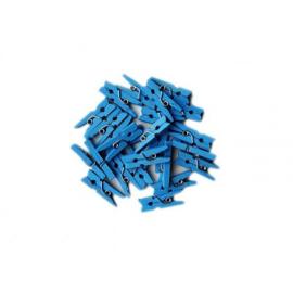 Blauwe mini knijpertjes (24 stuks)