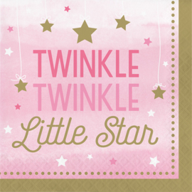"""Twinkle Twinkle Little Star"" Girl lunch servetten"