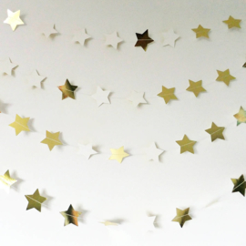 """Sparkling"" Gold & Silver sterren slinger"