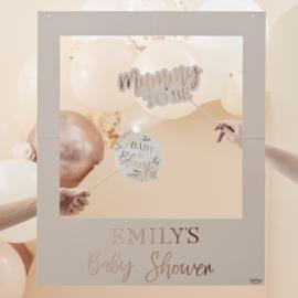 """""""Baby in Bloom"""" gepersonaliseerd foto frame"""