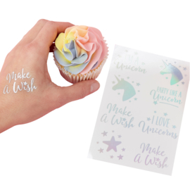 Unicorn Plaktattoos zilver