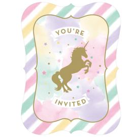 """Unicorn Sparkle"" uitnodigingen"