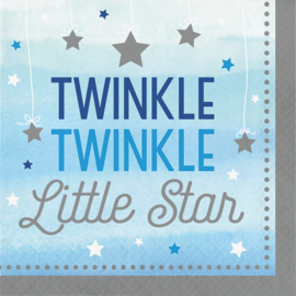 """Twinkle Twinkle Little Star"" Boy lunch servetten"