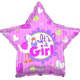 """It's A Girl"" folie ballonnen (leeg)"