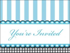 """""""Sweet Baby Feet Blue"""" uitnodigingen"""