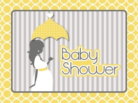 """New Mom Babyshower"" uitnodigingen"