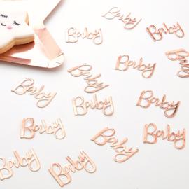 """Oh Baby Babyshower"" Rosé Gouden confetti"