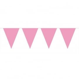 Roze XL vlaggetjes slinger