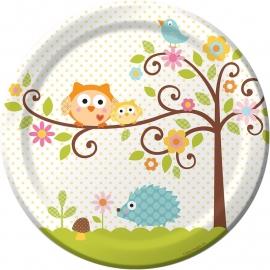 """""""Happi Tree Babyshower"""" lunch bordjes"""