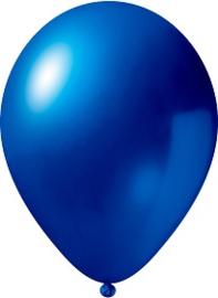 Metallic blauwe ballonnen 10 stuks van 12,5 cm