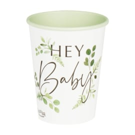 """Botanical Babyshower"" drinkbekers"