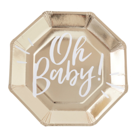 """""""Oh Baby"""" lunch bordjes"""