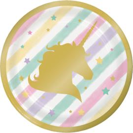 """""""Unicorn Sparkle"""" gebak bordjes"""
