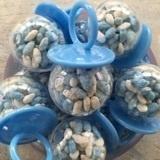 Speenbollen blauw gevuld met manna (12 stuks)