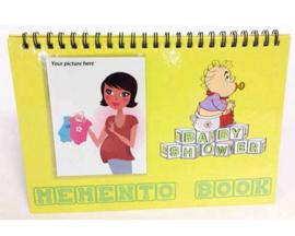 Babyshower herinneringsboekje