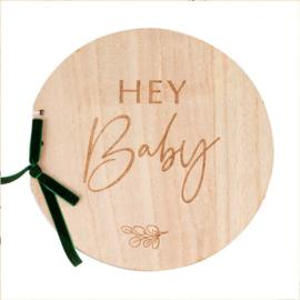 """Botanical Baby"" Houten Gasten boek"