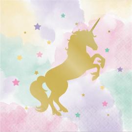 """Unicorn Sparkle"" lunch servetten"