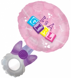 """Rammelaar Girl"" Super folie ballon (94 cm!)"