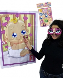 """Pin the Pacifier on the Baby"" Game"