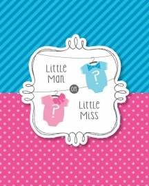 """Little Man or Little Miss"" uitnodigingen"