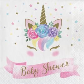 """""""Unicorn Baby"""" lunch  Shower Babyshower servetten"""