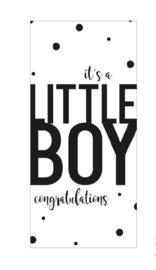 "Wenskaart ""It's A Boy Congratulations"""
