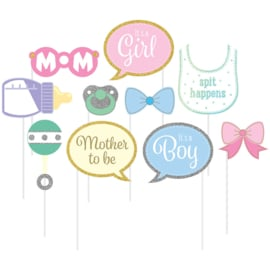 Babyshower Photo Props met glitters