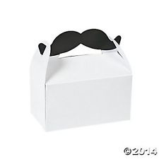"""Mustache Party"" Party Doosjes XL"
