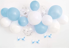 Baby blauwe ballonnenboogkit