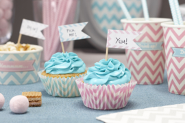 Chevron Cupcake Picks