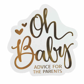 """Oh Baby"" Advice For The Parents kaarten 24 stuks"