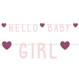 """""""Hello Baby Girl"""" letter slinger"""