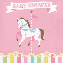 """Carousel Babyshower"" lunch servetten Babyshower"