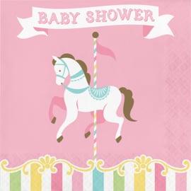 """""""Carousel Babyshower"""" lunch servetten Babyshower"""