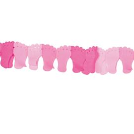 Voetjes slinger roze